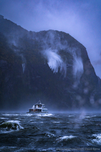 Storm on Milford Sound
