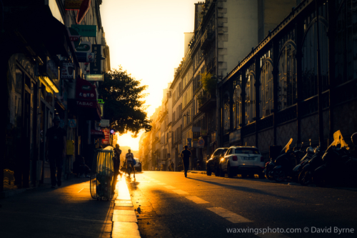 Sunset in the 10th Arrondissement